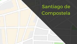 santiago compostela mapa