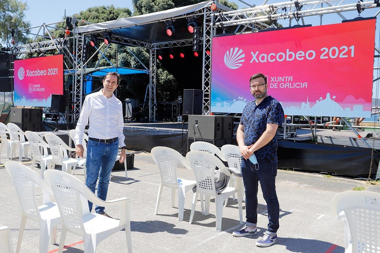 Jacobo Sutil de Agadic visita Vive Nigran 2020 - Fest Galicia
